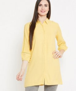 Madame Mustard Color Shirt For Women