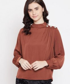 Madame Rust Color Top For Women
