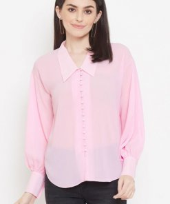 Madame Green Color Shirt For Women