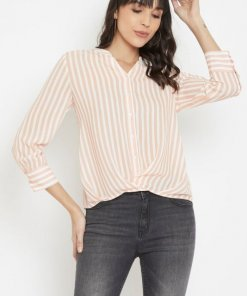 Madame Peach Color Shirts For Women