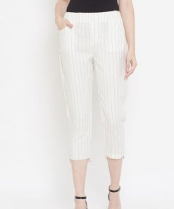 Madame White Color Trousers For Women