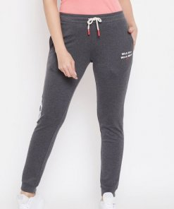 Madame Charcoal Color Track Bottoms For Women